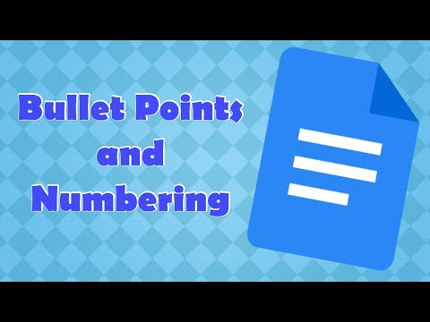 Bullets and Numbering in Google docs
