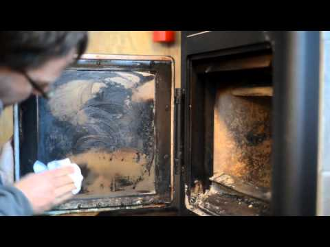 Wood Stove Glass Cleaning - Without Chemicals