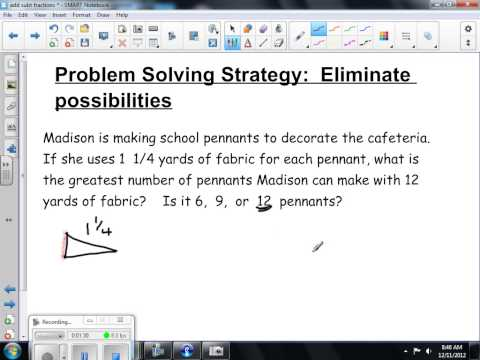 Problem Solving by Eliminating Possibilities 7th