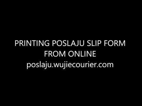 Free Printing POSLAJU SLIP FORM