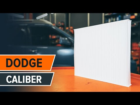 How to replace pollen filter DODGE CALIBER TUTORIAL | AUTODOC
