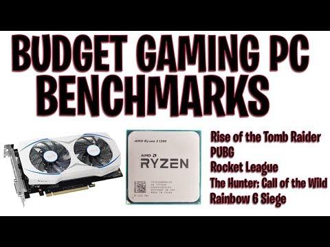 Ryzen 3 1200 + GTX 1050 Ti Gaming Benchmarks (PC UNDER $500)