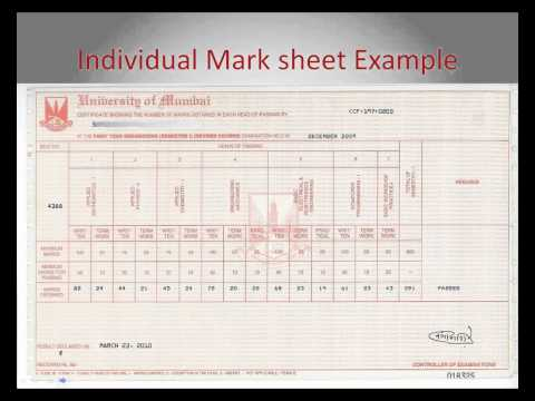 Individual Mark Sheet requirement for Indian Students