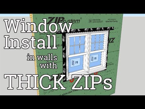 Window Install In Thick Zip Wall