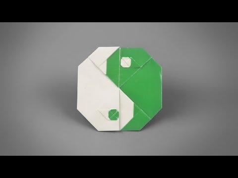 Origami: Yin Yang (Tai-chi symbol) - Instructions in English (BR)