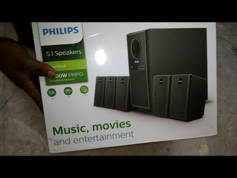 Unboxing and sound test of Philips Heartbeat 5.1 Multimedia Speaker