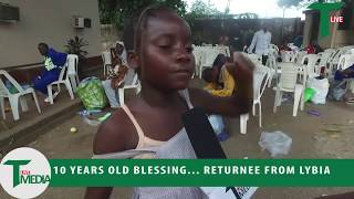 Watch.... 10 Years Old Blessing, Returnee From Libya