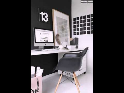 Black Office with DIY Wall Calendar