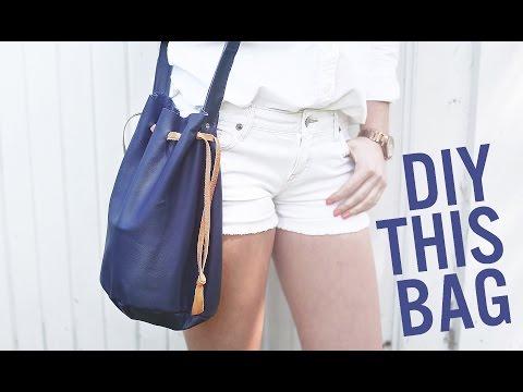 DIY BUCKET BAG/ PURSE FOR SUMMER