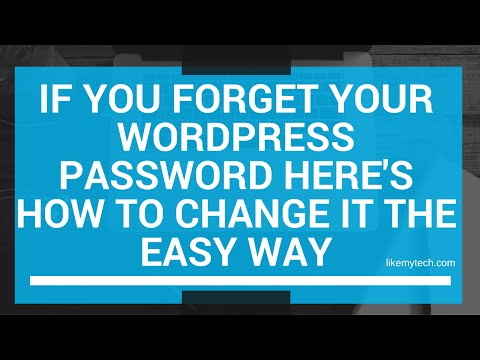 Reset Your Wordpress Login Password If You Forgot It Here's How To Change It The Easy Way