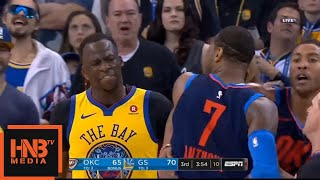 Carmelo Anthony Gets Technical Foul / GS Warriors vs Thunder