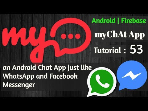 Firebase Chat App Android - 53 sending & receiving messages & making design more beautiful