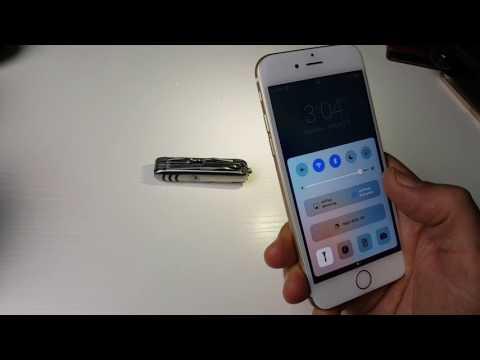 How to Turn ON/OFF & Adjust Flashlight Brightness | iPhone 6s & 6s Plus