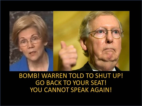 Ouch!!! Elizabeth Warren Silenced! Stop Talking! Go To Your Seat! Humiliated! You're Done Here!