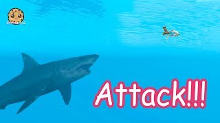 Shark Attack + Water Mermaids - Roblox Cookie Swirl C Game Video