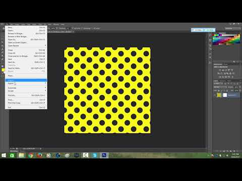 how to create a polka dot pattern in Photoshop for marvelousdesigner