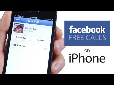How to Make FREE CALLS via Facebook App on iPhone, iPod, iPad