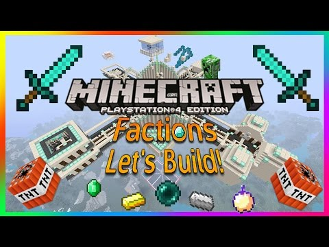 Minecraft PS4 How To Build A Faction Let's Build!