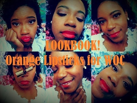LOOKBOOK! Affordable Orange Lipsticks for WOC