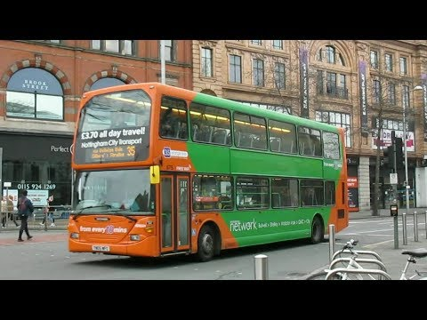 Buses Trains & Trams in Nottingham January 2018