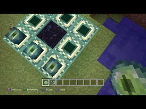 Minecraft how to build a end portal Xbox 1 and PS4