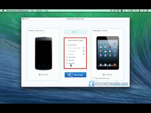 How to Transfer All Data from Android Tablet to iPad Mini on Mac, Like Contacts, SMS,