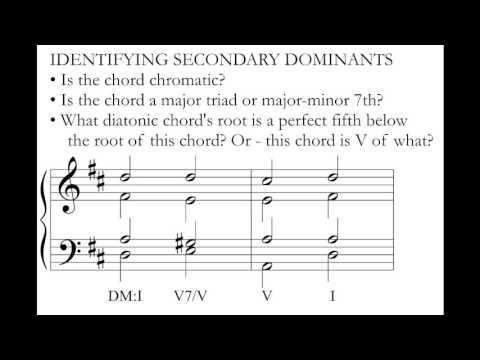 Music Theory: Secondary Dominants.