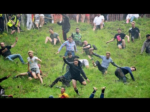 Roll down for what? Cheese rolling takes place in Gloucestershire, UK