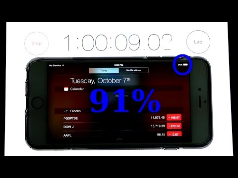 iPhone 6 Plus - Battery Life Test (watching youtube videos)