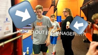 KICKED OUT OF SKYZONE!!!! (COPS CALLED?!)