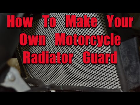 How To Make Your Own Motorcycle Radiator Guard