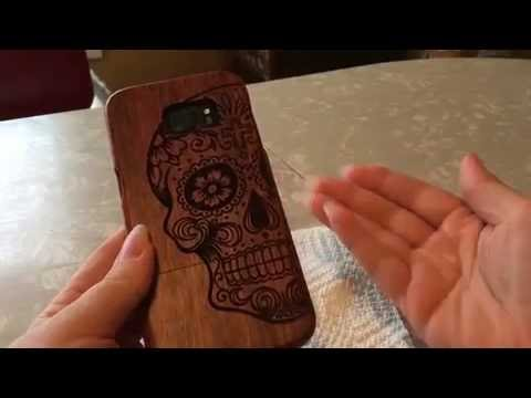 Handmade Wooden Engraved Sugar Skull Samsung Galaxy S7 Edge Case Review