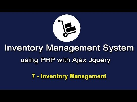 Inventory System in PHP using Ajax Jquery - Inventory Management - 1
