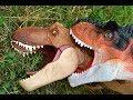 Super Colossal Tyrannosaurus Rex Vs Carnotaurus Puppet Toy Jurassic World Fallen Kingdom Attack