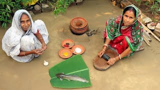 Cooking Deshi Big Magur in Clay Pot by Grandmother | Traditional Matir Harite Magur Mach Recipe