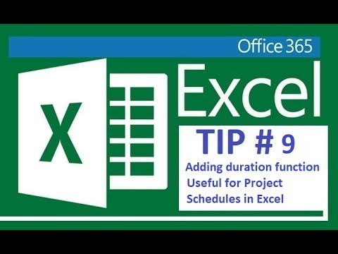 Excel 365 - Adding duration to tasks or project tasks
