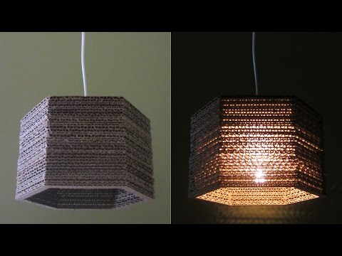 Cardboard lamp DIY (hexagon) - best out of waste project - EzyCraft