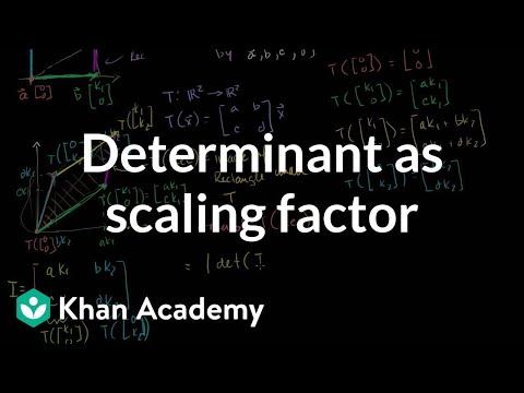 Determinant as scaling factor | Matrix transformations | Linear Algebra | Khan Academy