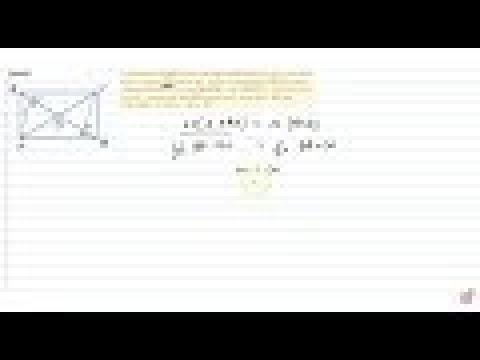 A quadrilateral `A B C D` is such that diagonal `B D` divides its area in two equal parts. Prov...