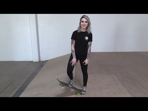 RIDING BASICS | GIRL LEARNS HER FIRST SKATEBOARD TRICKS EP 9
