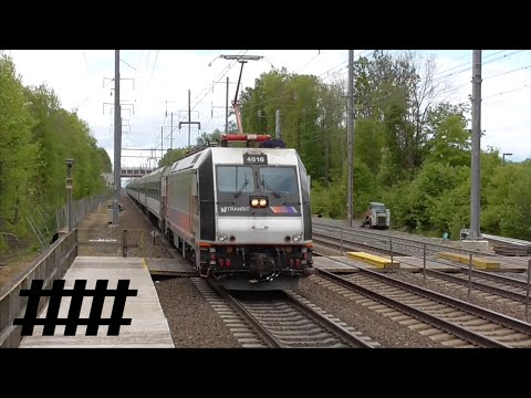 New Jersey Transit Trains at Princeton Junction Station