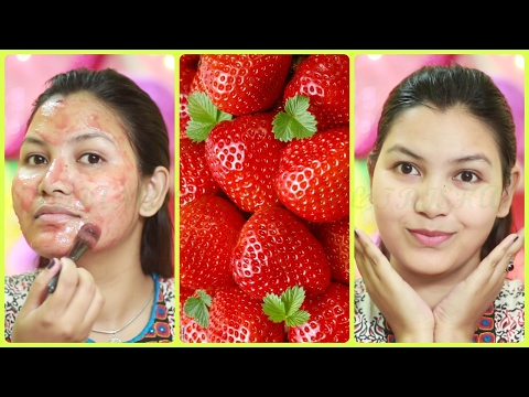 How to get clear bright beautiful skin at home with strawberry face mask