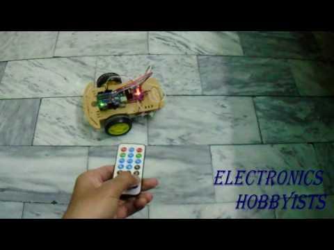 Arduino Remote Controlled car using IR sensor