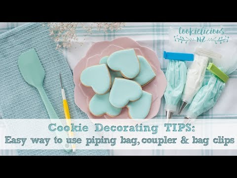 COOKIE DECORATING TIPS -  The Easy Way to use Piping Tips, Couplers & Bag Clips