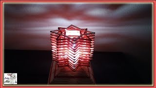 How to make a Popsicle Stick Table Lamp || Popsicle Stick Lamp Shade || Ice Cream Stick Lamp