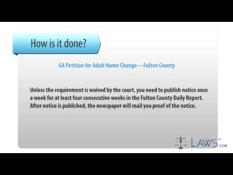 GA Petition for Adult Name Change Fulton County
