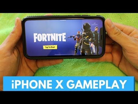 Fortnite Mobile on iPhone X! (Gameplay & First Impressions)