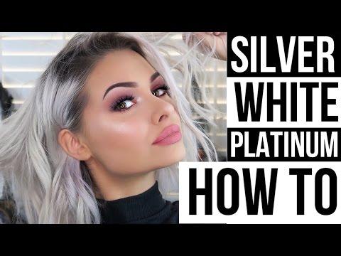 SILVER/WHITE/PLATINUM HAIR AT HOME + HOW I STYLE SHORT HAIR   Talia Mar