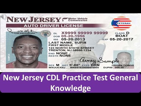 New Jersey CDL Practice Test General Knowledge
