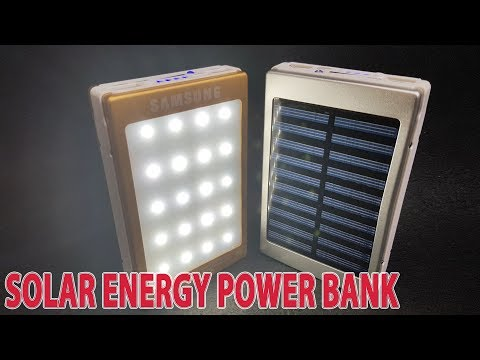 Build A Solar Energy Power Bank with LED Light